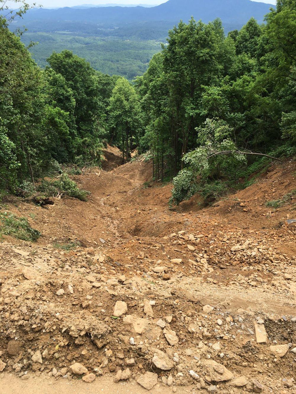 Landslide, Crooked Creek (SW McDowell County)