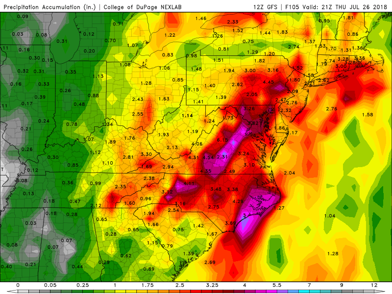 12Z GFS Precipitation Accumulation valid 21Z Thursday
