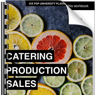We made this workbook to help you manage the day to day of your pop business when it comes to production and pop distribution. This workbook includes weekly worksheets that will keep you organized and on track as you manage what I like to call the Ice Pop Holy Trinity! Catering, Production, and Sales  Make ice pops each week Market your business for catering gigs Set up your route for street vending Manage Wholesale accounts Keep track of weekly and monthly sales Set up your catering menu.  Includes:  Daily Inventory Tracking Sheet Daily Ice Pop Production Sheet Weekly Cold Calling Catering Worksheet Weekly Catering Calendar Bi-Weekly Wholesale Calendar Weekly Sales Tracker Sample Catering Menu Template  Sample Catering Menu  Sample Credit Card Authorization  Catering Prospecting Worksheet Print them off and make copies as needed so you can use them daily, weekly and monthly.