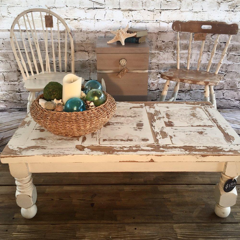 - {Chippy Vintage} Coffee Table — Saltwater's Edge Studio