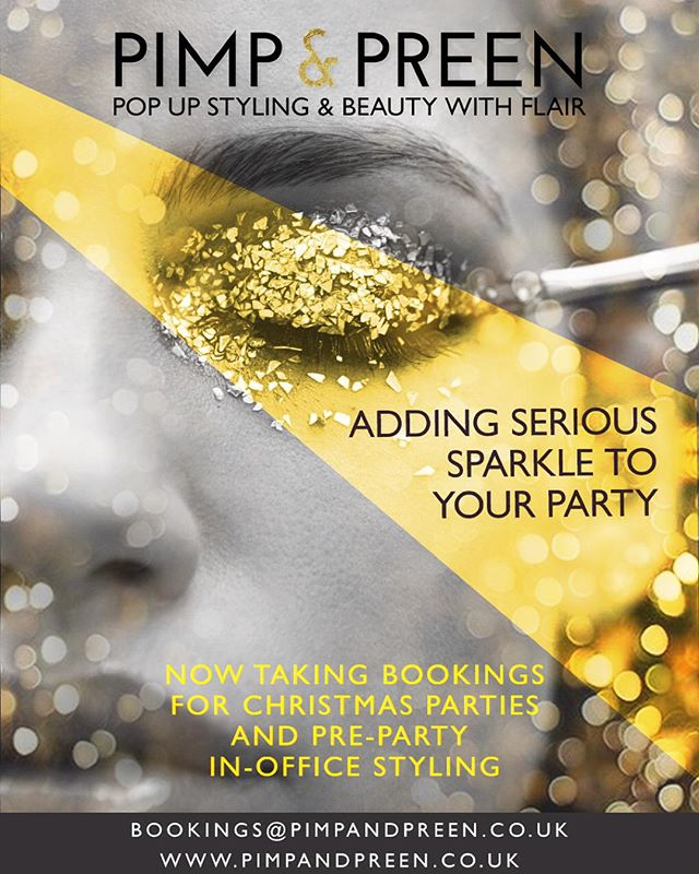 Add serious sparkle to your Christmas Party! @pimpandpreen are now taking Christmas bookings! get in touch to book!💫 #makeup #christmas #christmasparty #makeupaddict #glitter #sparkle #makeover #lofd #gold #pimpandpreen #events #london #eyes #lips #makeuplook #amazing #fun