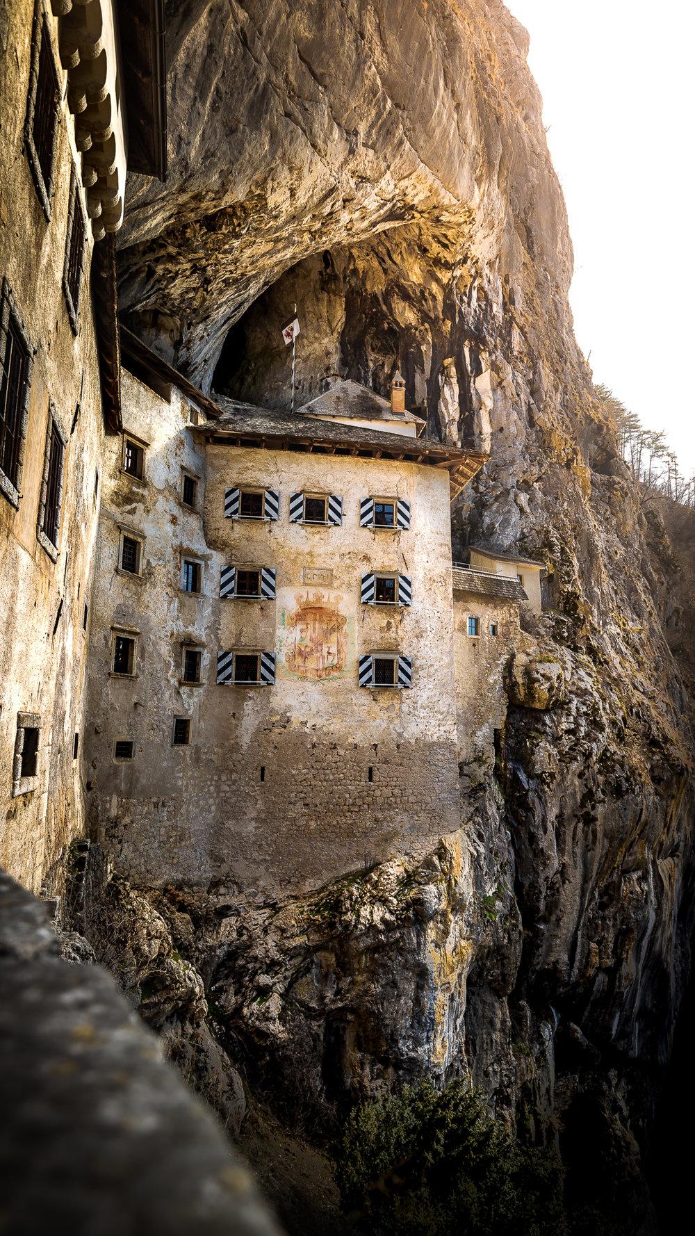 Predjama Castle in all its medieval glory.