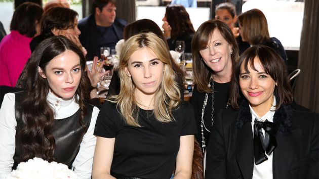Here you can actually see different types of foundations on different types of skin under a bit of a strong flash.  I used the Velvet Matte Foundation on Zosia Mamet (center) for the Tribeca Chanel Women's Filmmaker Luncheon.
