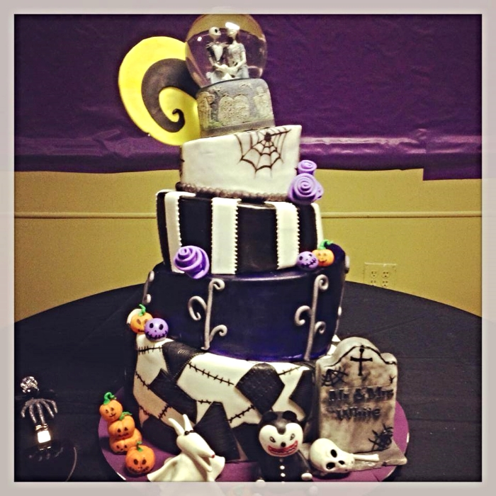 The Nightmare Before Christmas Wedding Cake