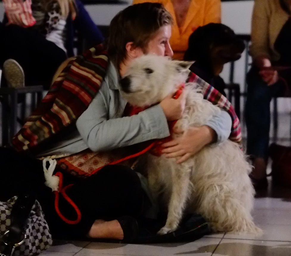 Dog cuddle
