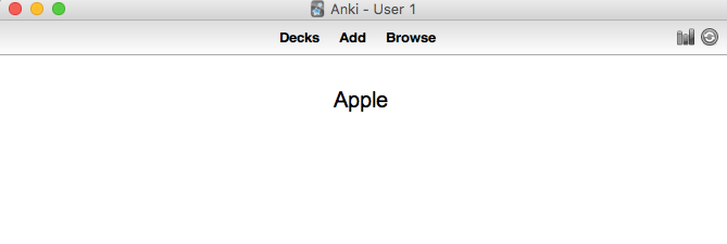 Flashcard as it is presented in Anki.