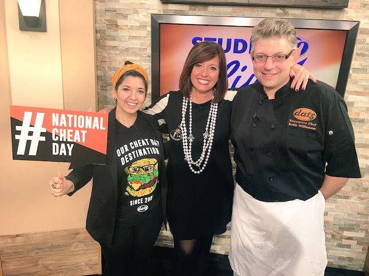 Studio 10 for National Cheat Day on January 28, 2016. nationalcheatday.com