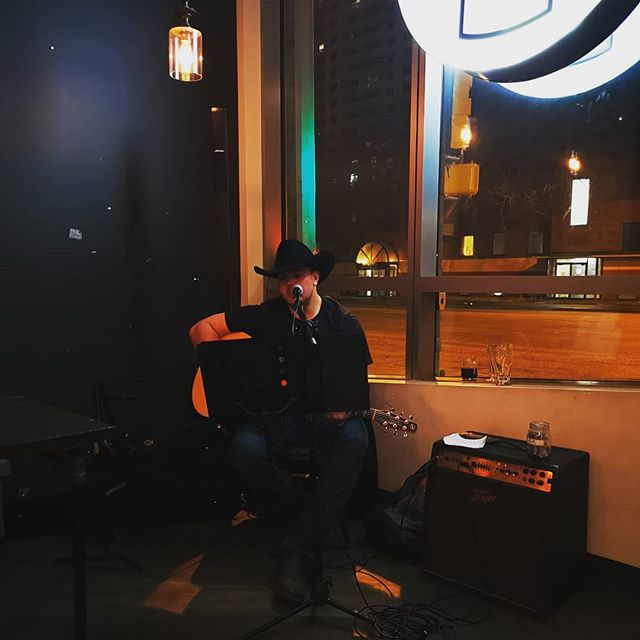 Thanks Jonathan Collins for the wonderful night.  #yegdt #event #livemisic #brucoffee #fridaynight #talent
