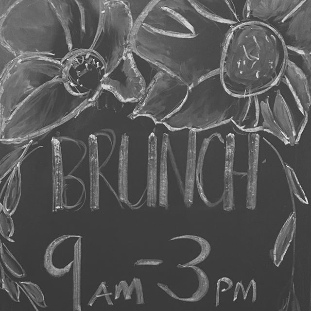 Join us for brunch today and tomorrow! 9-3 ☕️