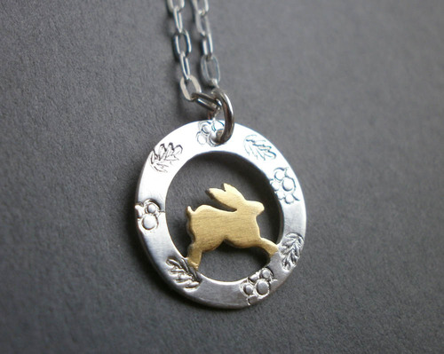 Tiny golden leaping hare pendant lucy palmer jewellery tiny golden leaping hare pendant aloadofball Gallery