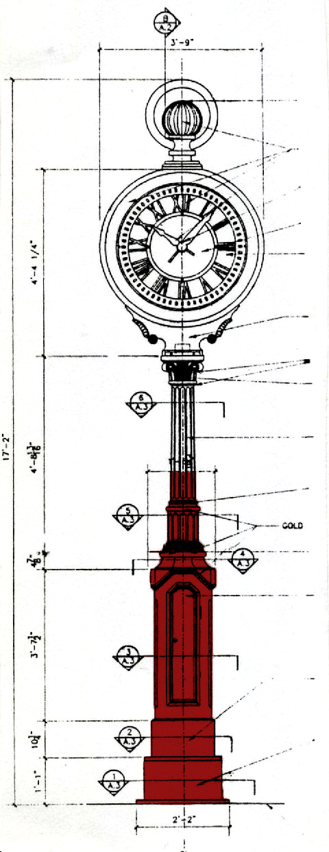 One of SACs designated projects, the Yorkville clock on 1501 Third Avenue, NYC.