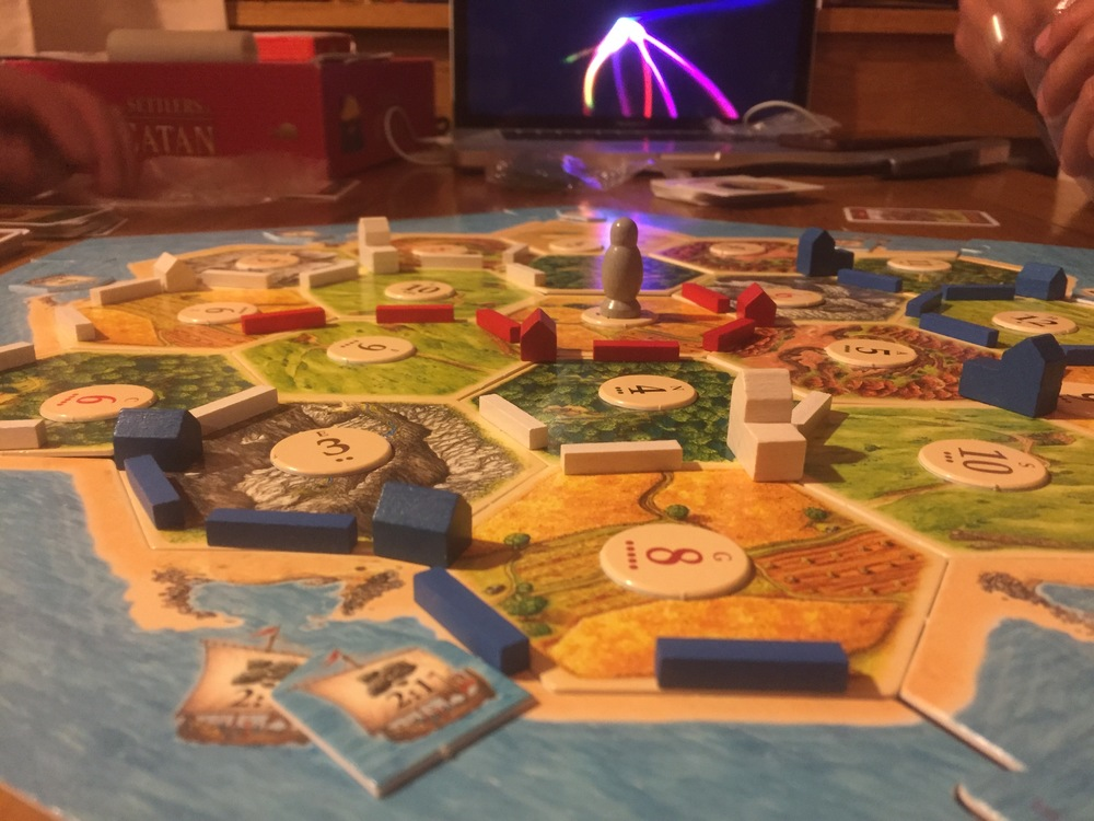 Me winning Settlers of Catan ;)