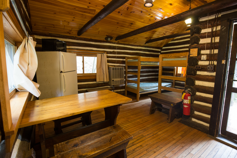 Our little 2 bunk cabin we stayed in.