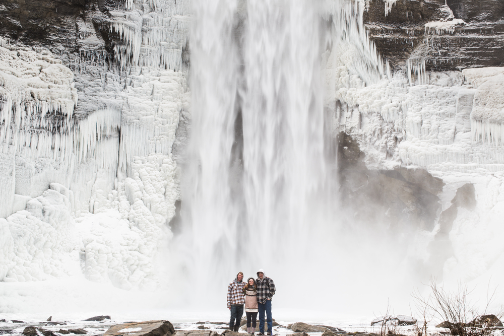 Anna, John and I in front of Taughannock Falls in Ithaca New York.