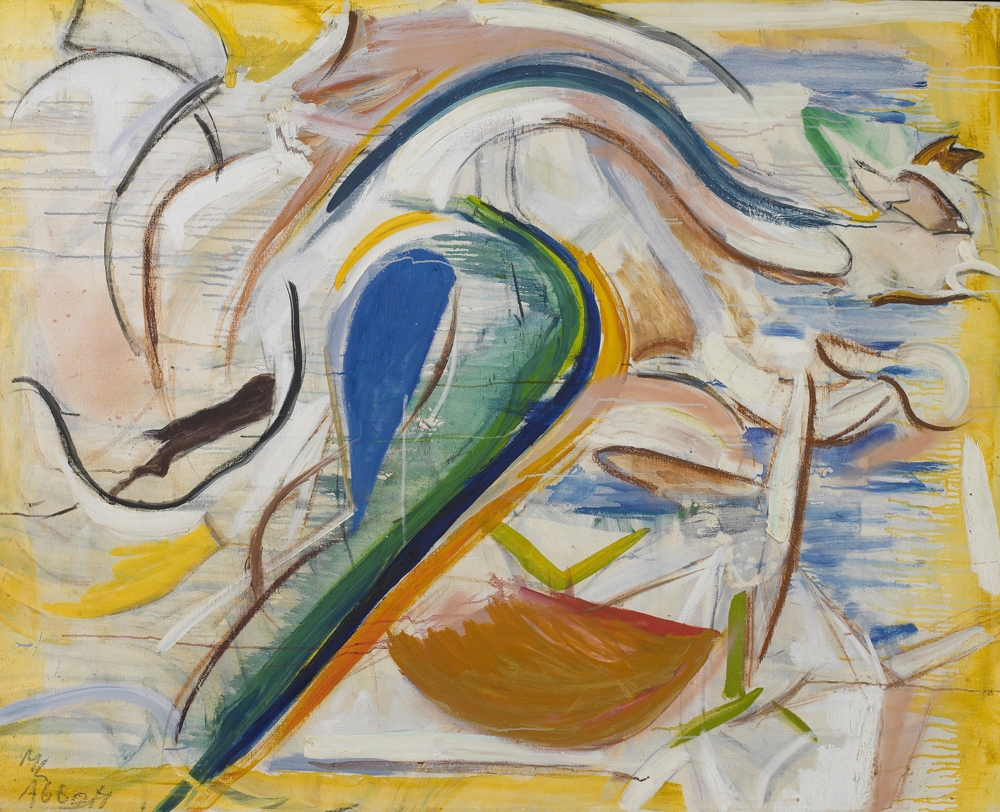 SOLD  Bird Diamonds  , oil on linen, c. 1956-57, 48 x 60 inches