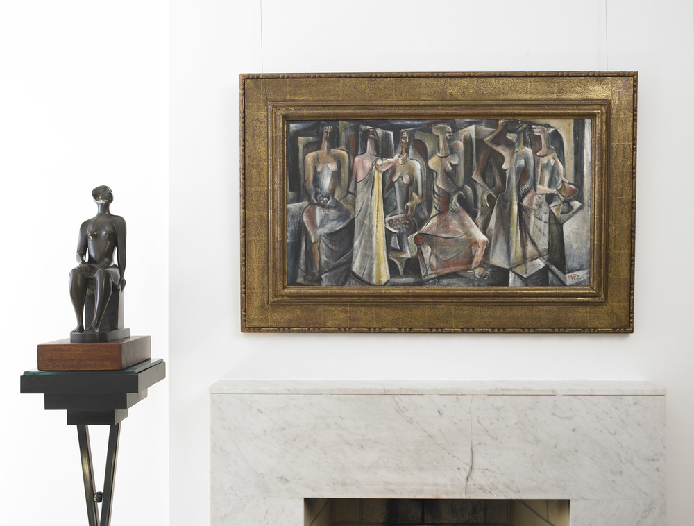 Untitled (Seven Figures)  in situ, Vallarino Fine Art