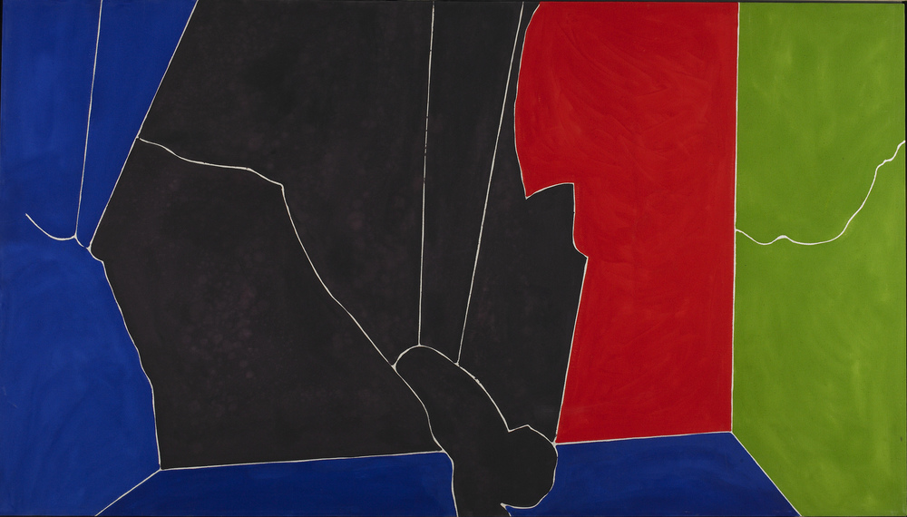 New Synthesis #26, acrylic on canvas, 1981, 48 x 84 inches