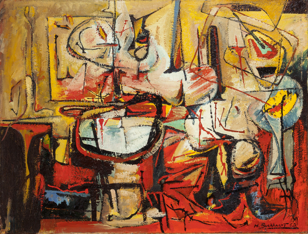 SOLD Untitled, 1953, oil on canvas, 32 x 42 inches