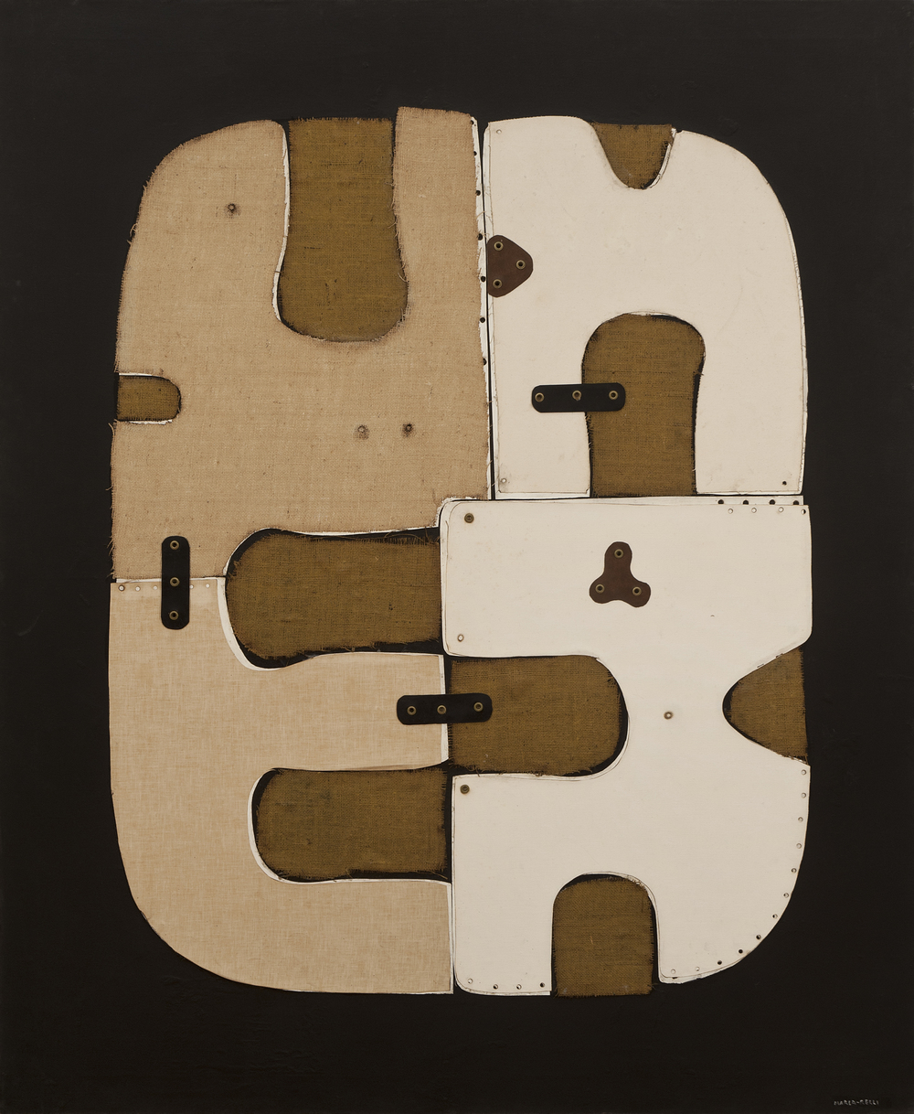 SOLD XL-20-70, 1970, collage on canvas, 69 x 57 inches