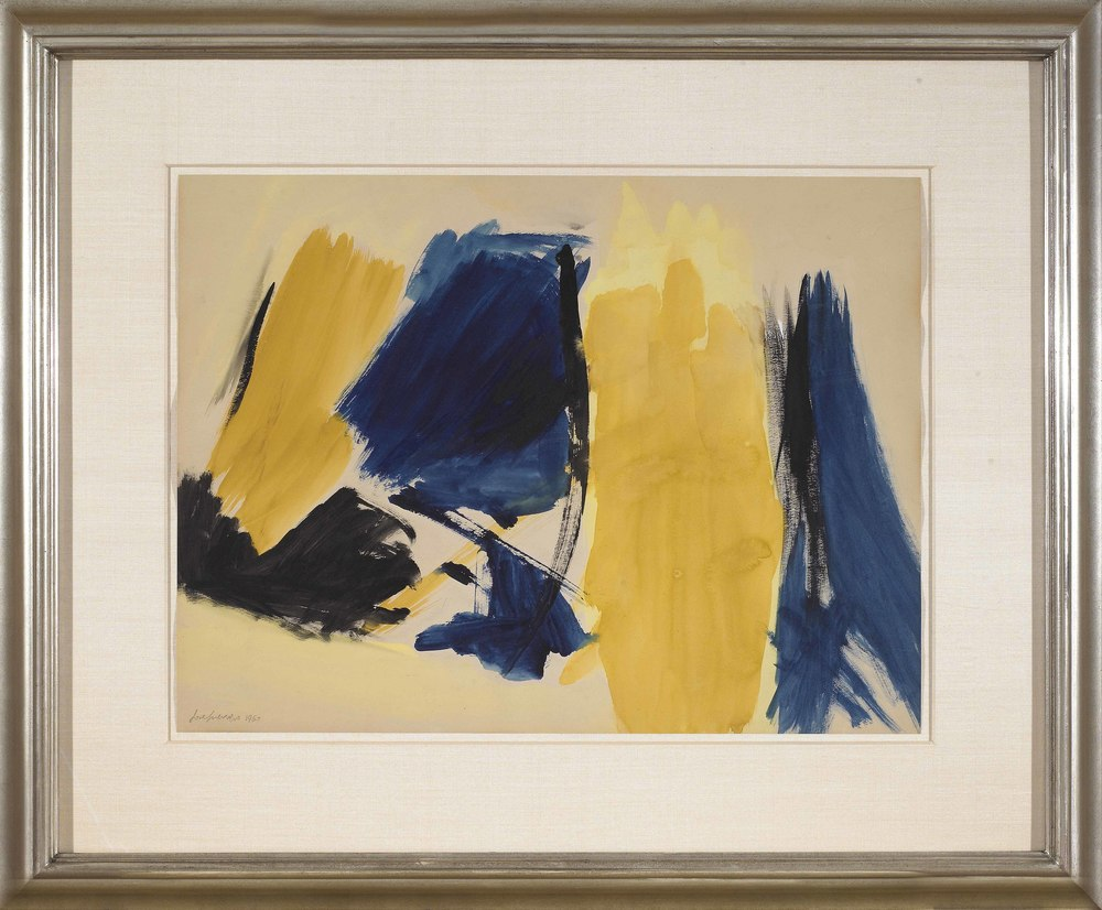 Untitled, 1960, gouache on paper, 19 x 25 inches