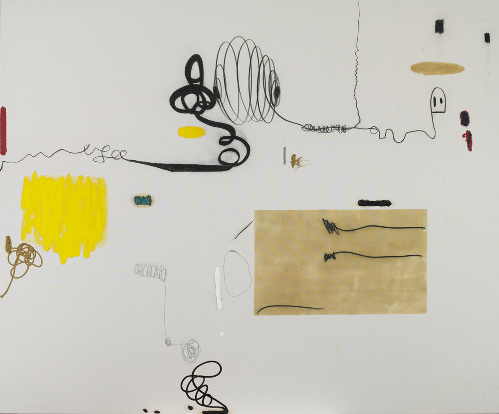 SOLD  Untitled, 2014  , oil stick, oil paint and charcoal on linen canvas, 71 x 82 inches