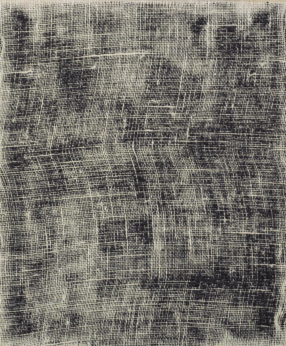 Porosity (Black II), 2014, acrylic on burlap, 20 x 16 inches