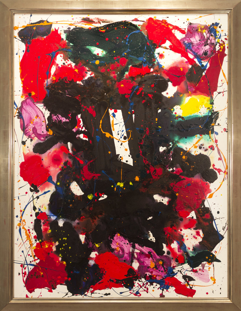 Sam Francis, Untitled, 1980, oil on canvas, 63 x 48 inches