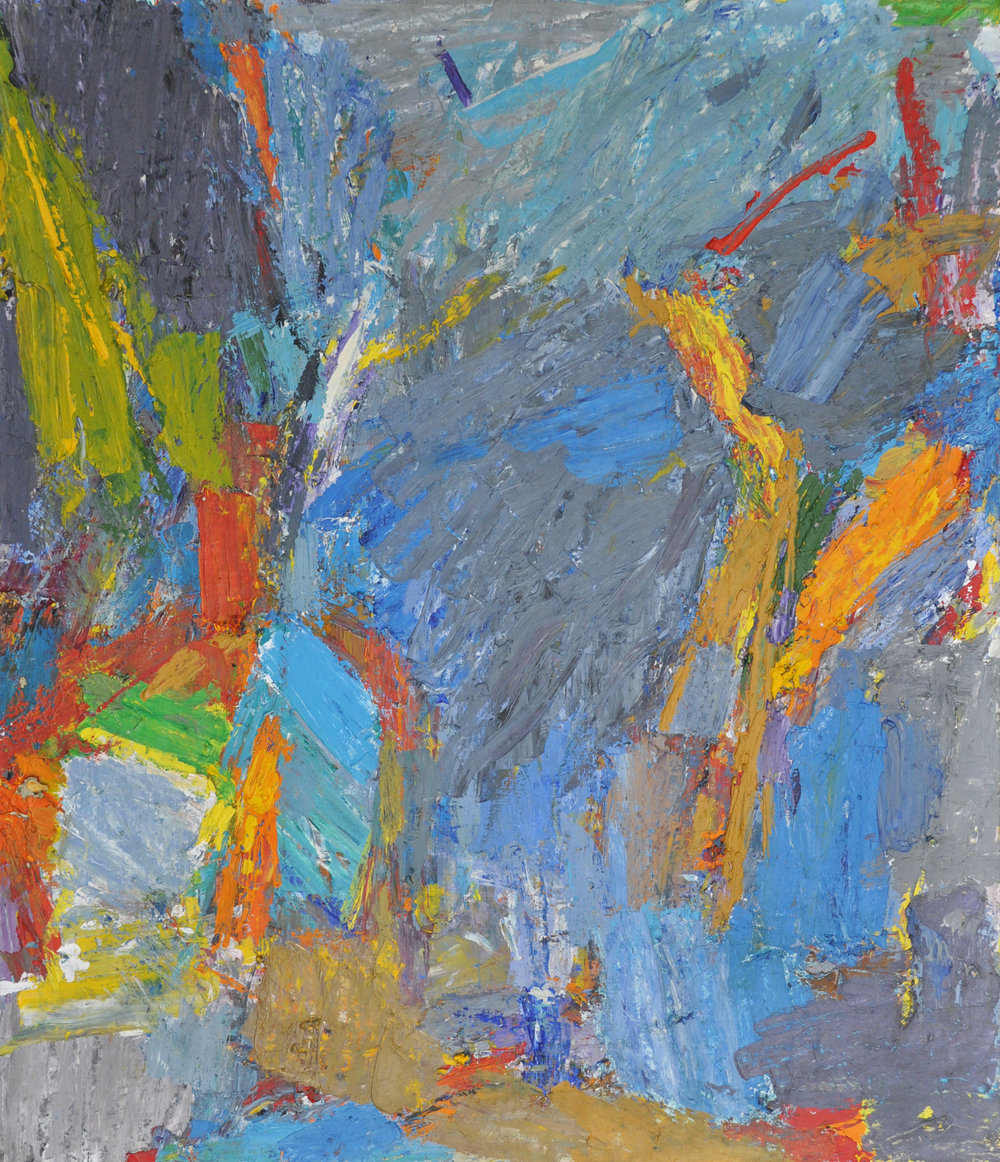 Untitled, c. 1950s, oil on canvas, 55 x 65 inches