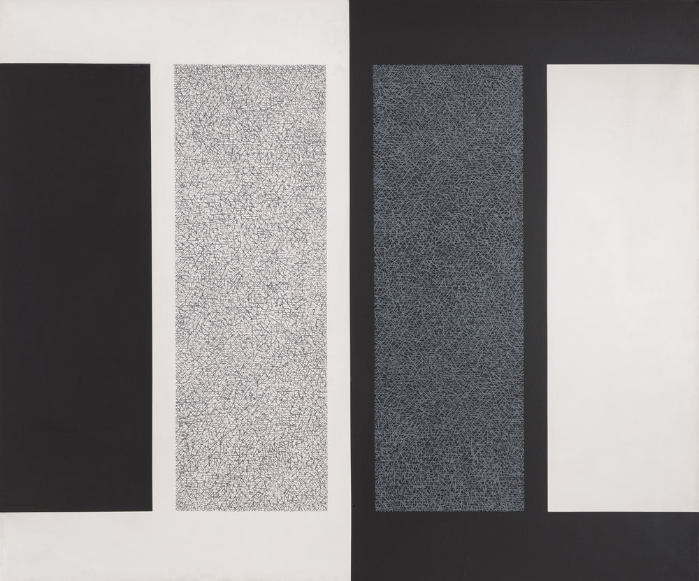 Homage to the Immaculates, 1965, acrylic on canvas, 50 x 60 inches