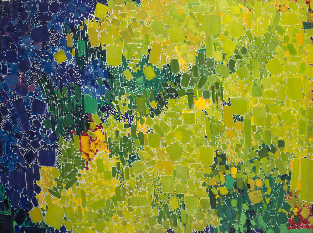 SOLD Grass Symphony, 1962, oil on canvas, 50 x 68 inches