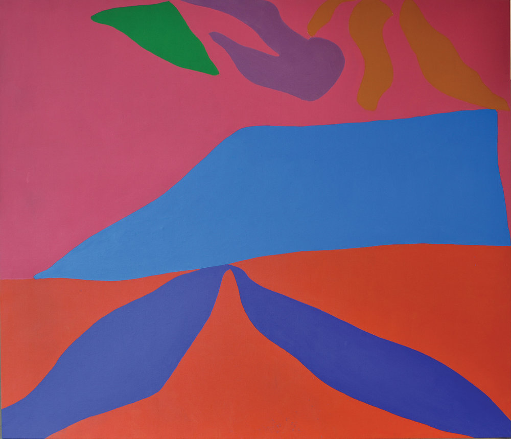 Untitled, 1967, oil on canvas, 88 x 96 inches