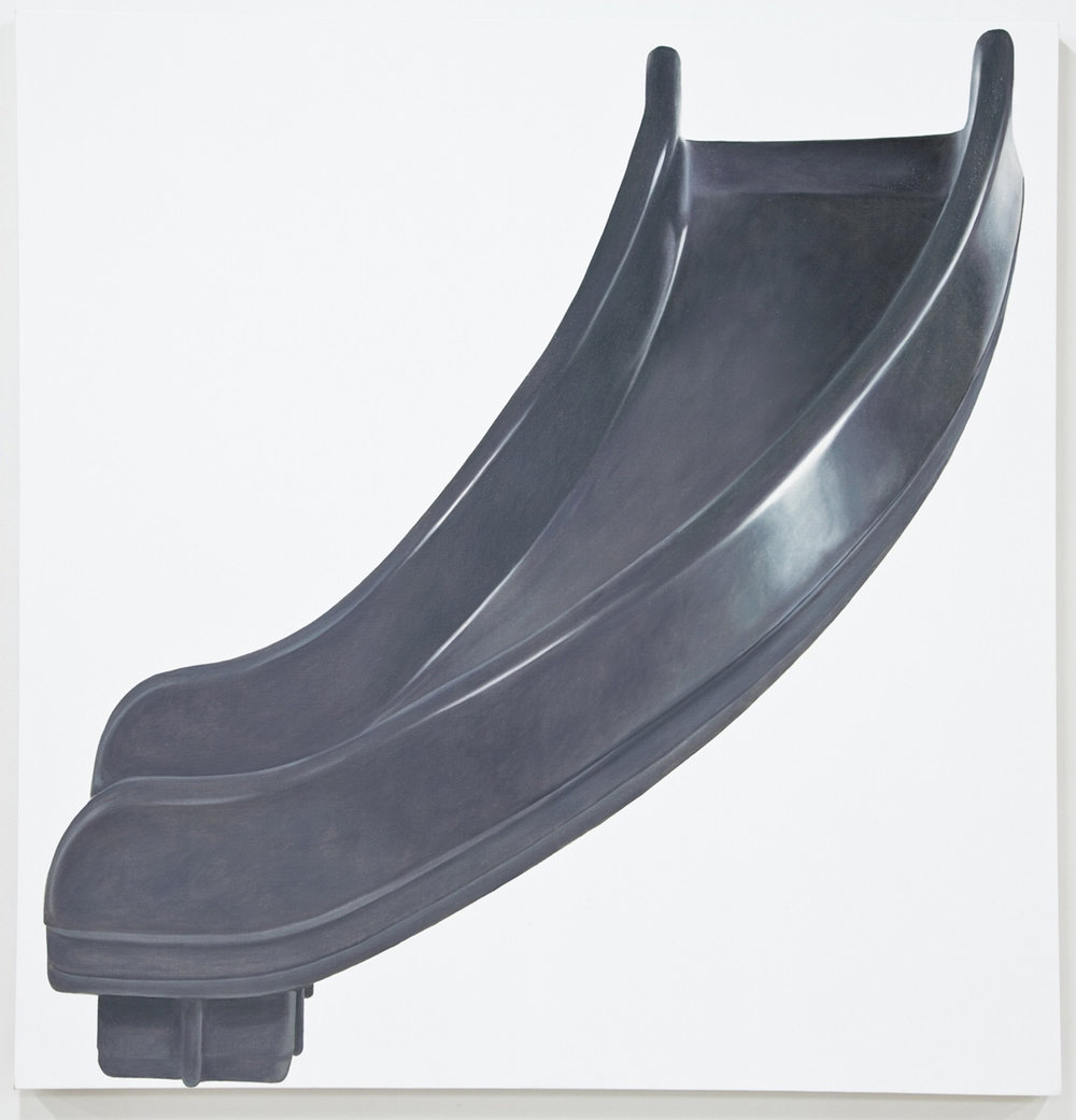 Grey Right Turn, Oil on linen, 2012, 64 x 62 inches