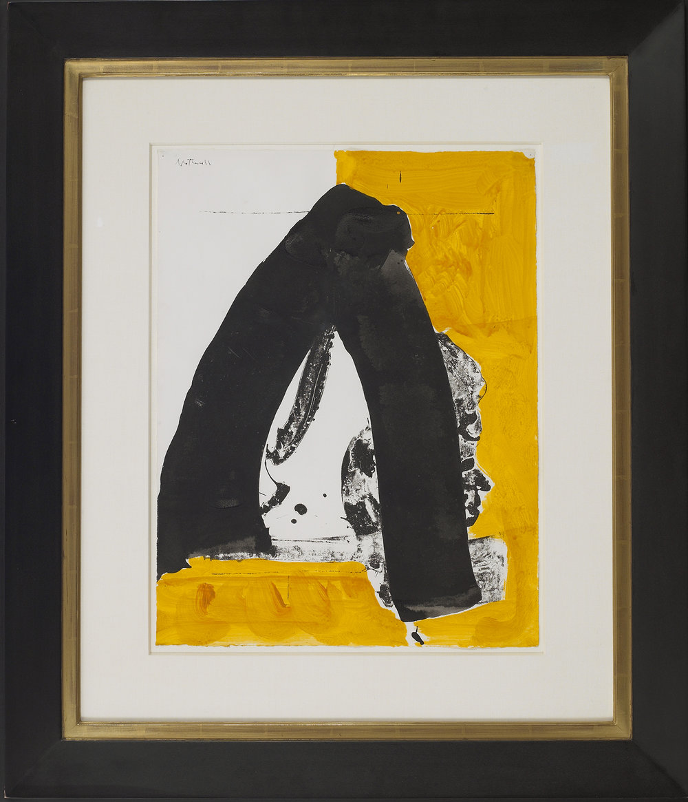 I.H. Series No. 22 (The Basque Suite), 1970, acrylic, ink and lithograph on paper, 22 x 17 inches, signed at upper left