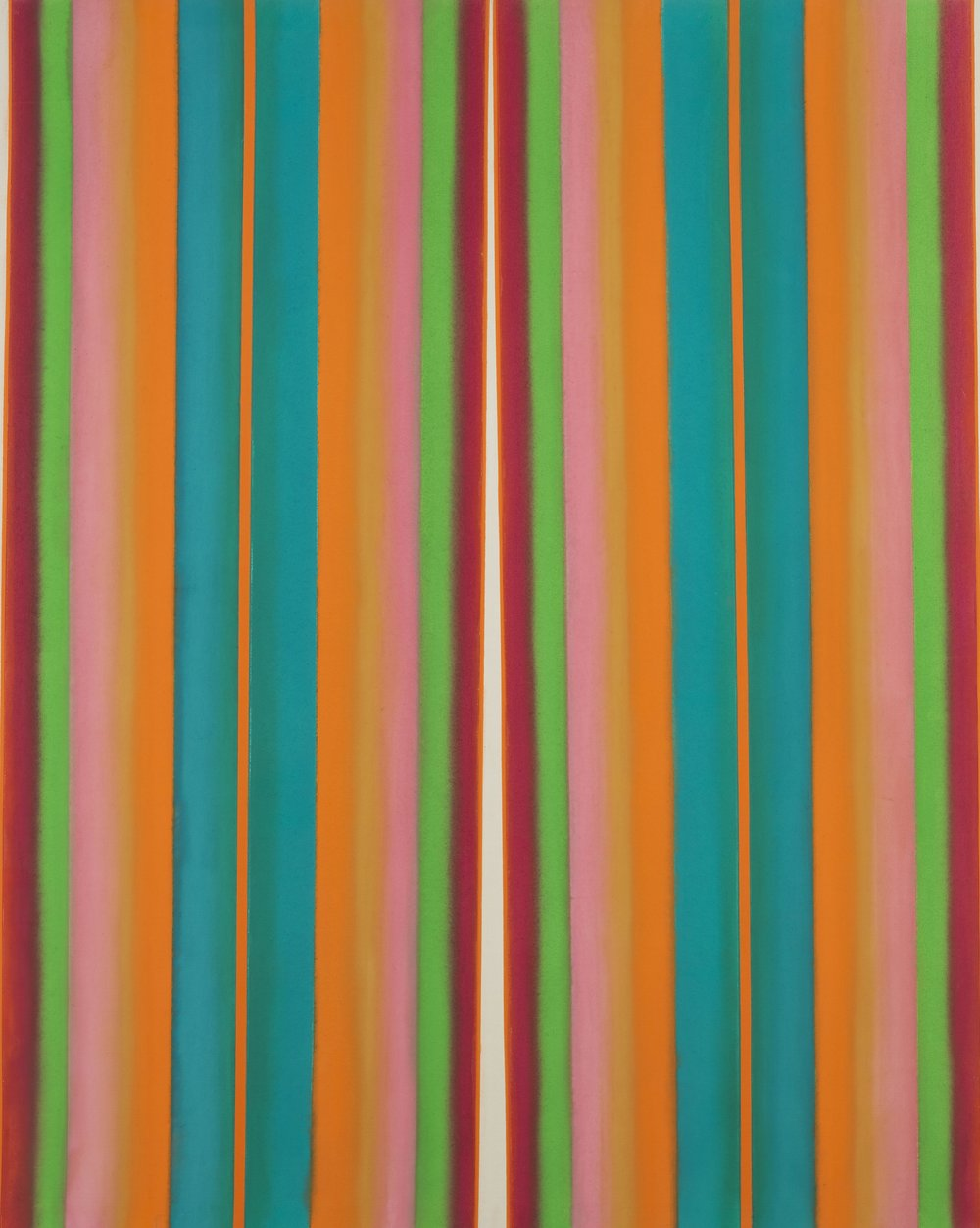 Leon Berkowitz ,  Cathedral #23, 1968 , oil on canvas, 72 x 90 inches
