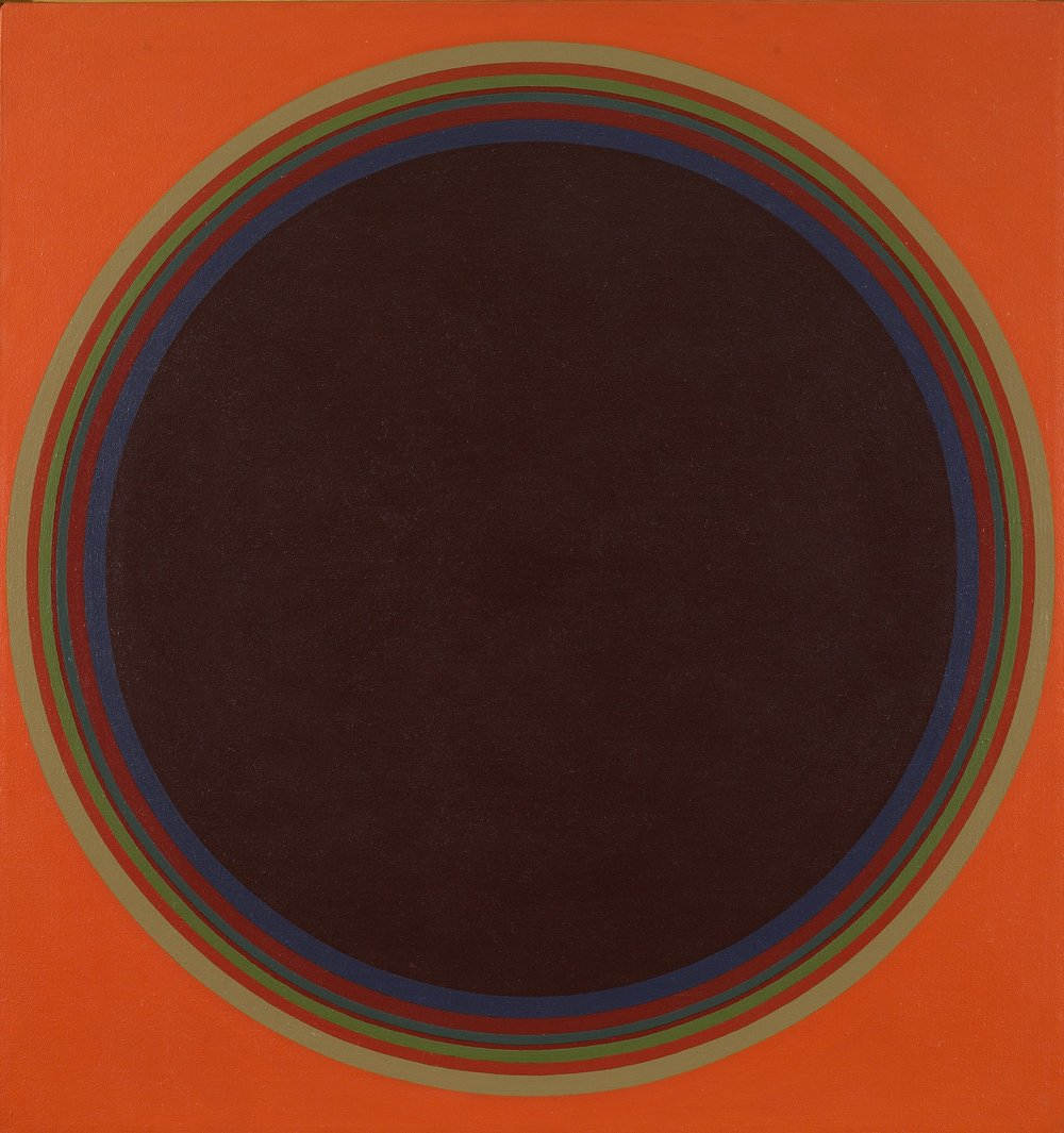 John Stephan, Disc #2, 1974, acrylic on linen canvas, 36 x 35 inches