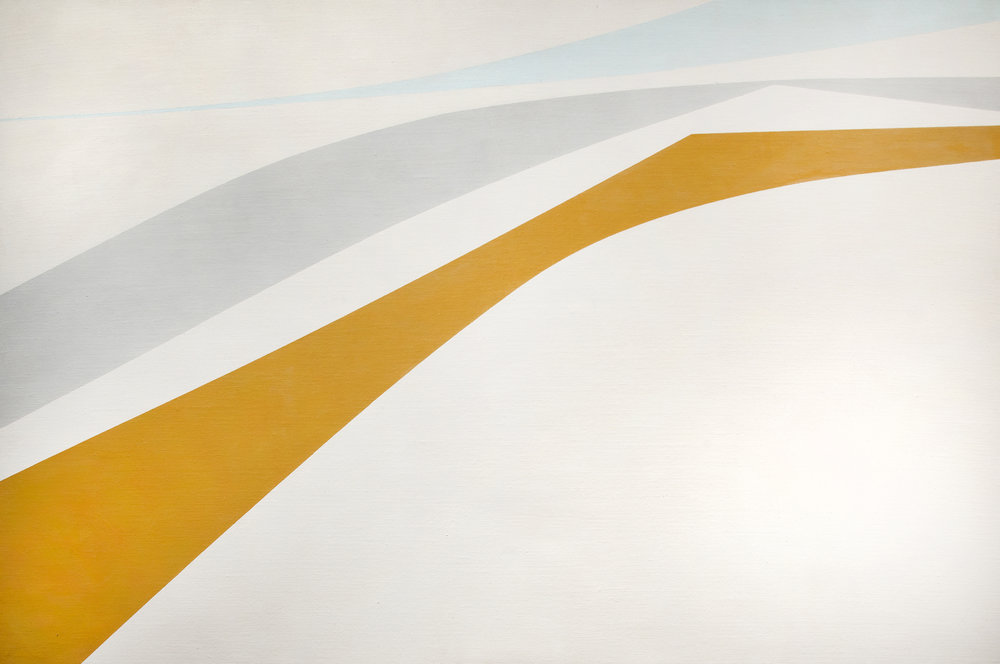 Helen Lundeberg, Windblown, 1964, oil on canvas, 40 x 60 inches