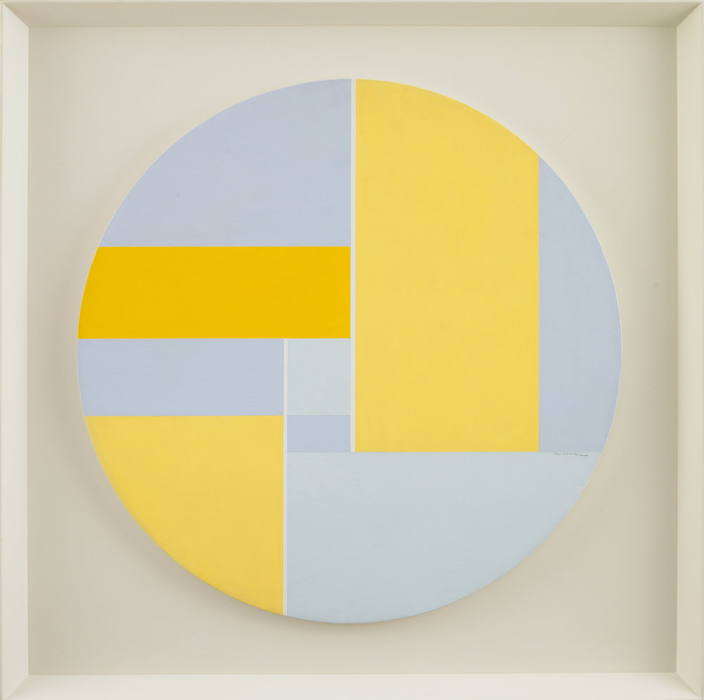 Golden Tondo B, 1974  , acrylic on wood, 30 inches in diameter