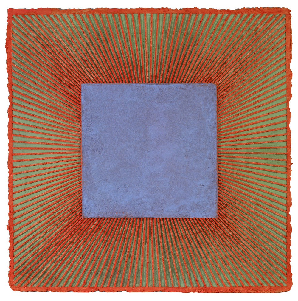Untitled,   Acrylic on handmade paper, 1981, 43 x 43 inches