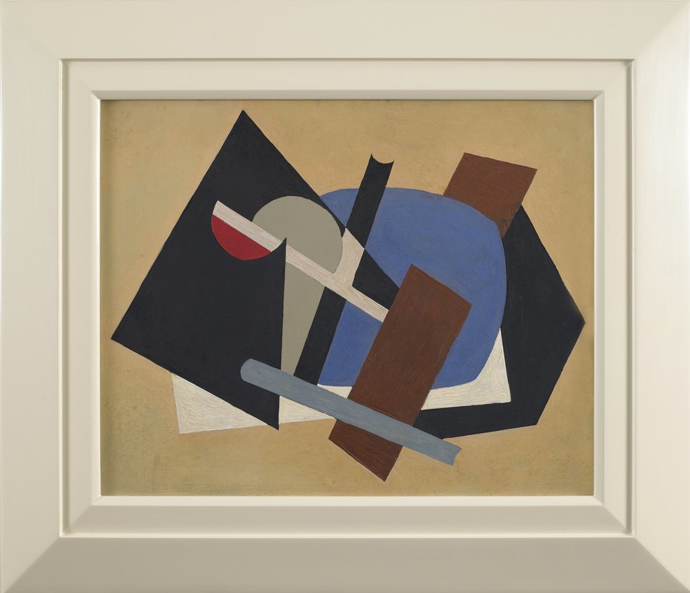 SOLD  Composition   ,  Oil on canvasboard, 1943-44, 15 3/4 x 19 1/2 inches