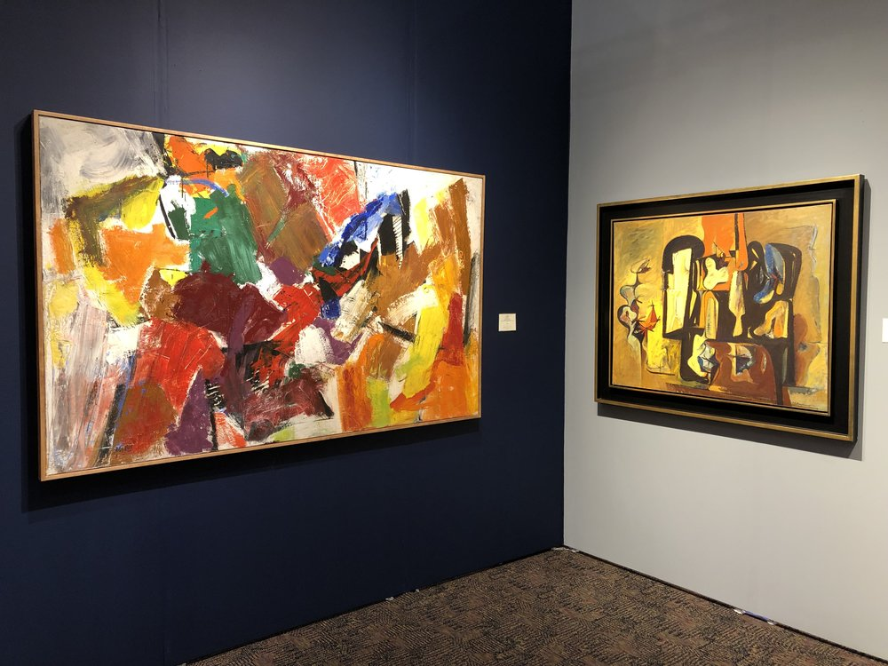 "John Little ""Resolution"" and Hans Burkhardt ""Interior"""