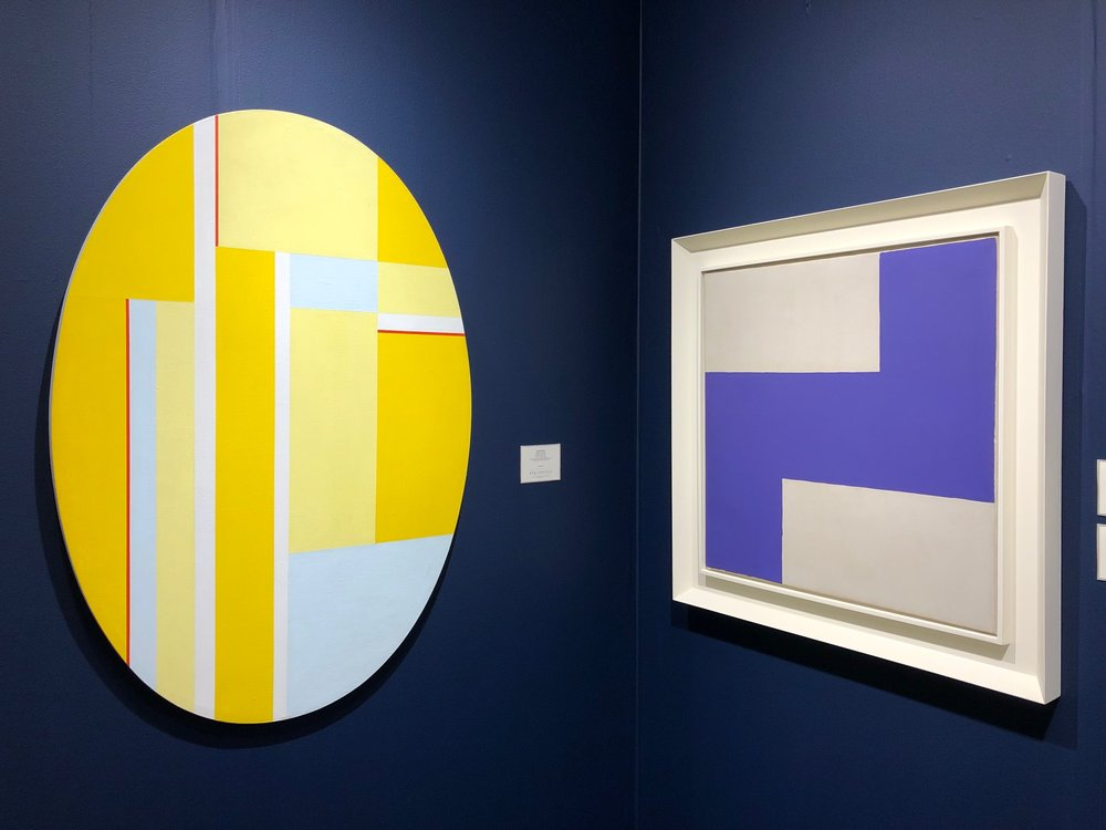 "Ilya Bolotowsky ""Ellipse with Yellows"" and Ray Parker ""Untitled,1964"""
