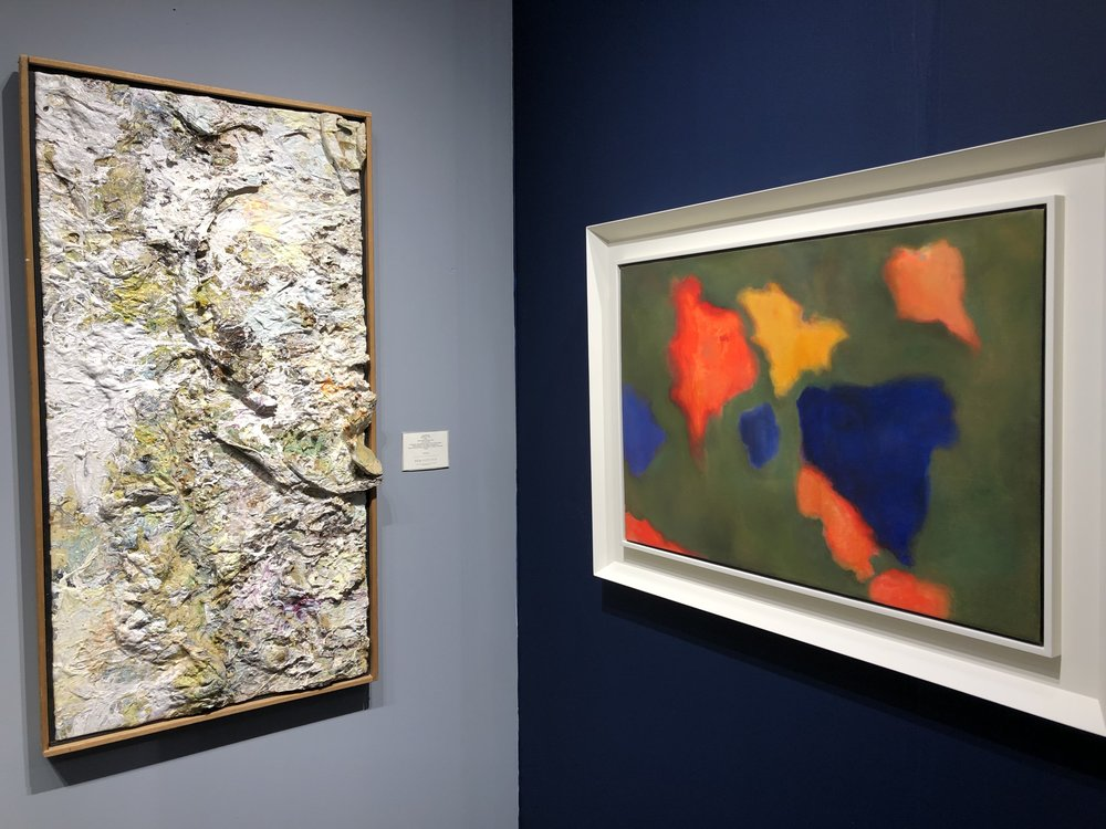 "Larry Poons ""CHOO"" and Esteban Vicente ""Floating World"""