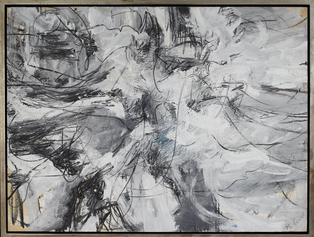 Untitled, 1950-51,   Oil and oil stick on paper, 30 x 40 inches