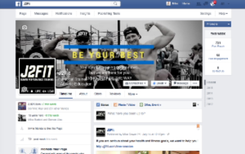 Like J2FIT on Facebook