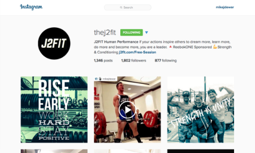 Follow J2FIT on Instagram