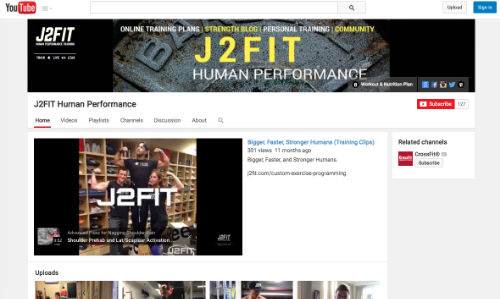 Subscribe to J2FIT on YouTube