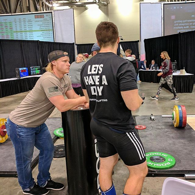 Awesome experience at @usa_weightlifting AOS3 in Grand a Rapids, Michigan, USA this past weekend. Was awesome to see so many passionate athletes, coaches, and community eager to do their best and help others do the same. No matter how successful your are, always take the time to be an active role model, influence, and genuine person with anyone you meet. You never know what you can do for someone, how much you can inspire, or simply how your simple act can impact their goals and lives. As coaches, athletes, and leaders, we will all face a moment like that, so be ready to lead! #thebarbellceo ••• @jaredf94 offering his coaching wisdom and leadership with @mikejdewar of @thej2fit weightlifting, helping him to execute the plan of success. ••• #usaweightlifting #roguefitness #americanopenseries2017 #strengthcoach #weightlifting #olympicweightlifting #olylift #crossfitter #functionalfitness #personaltrainer #outlawbarbell #j2fitweightlifting #crossfit #muscles #snatch #crossfitgames #trainhard #athlete #workout #powerclean #hypertrophy #bodybuilding #cleanandjerk #usaw #eleiko #squat #squateveryday #leadership
