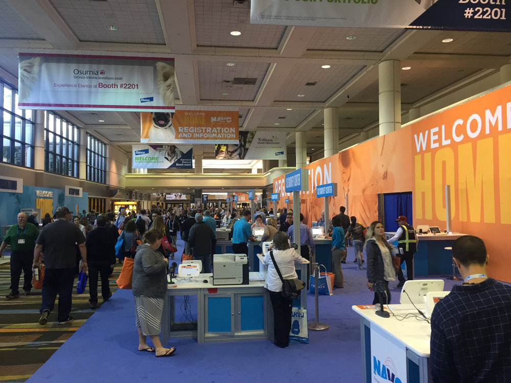 Entrance to the NAVC 2017 exhibit hall