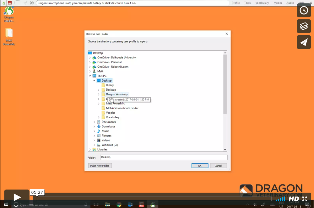 Tutorial #6: Importing and exporting your profile   This video teaches you how to backup and export your profile for transfer to a different computer or prior to installing an upgrade. We recommend regular profile backups.