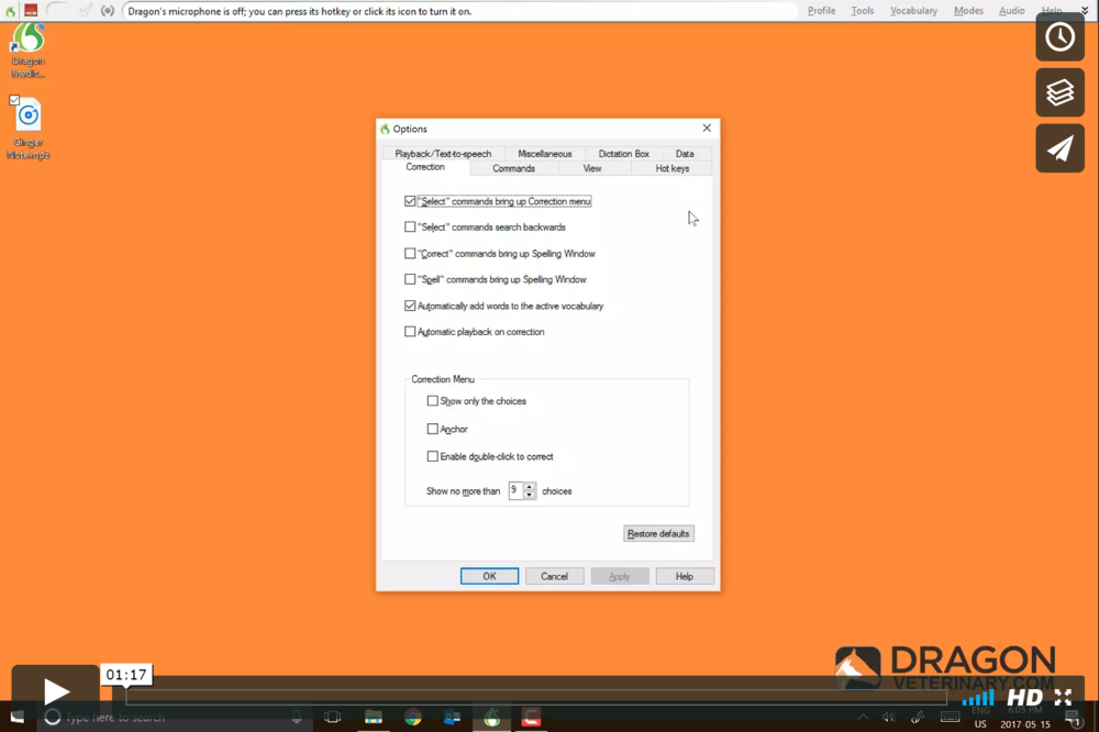 t  utorial #21: switching your dictation source   This video builds upon the previous tutorial by going over the steps necessary to switch between the multiple dictation sources within your Dragon Veterinary profile.
